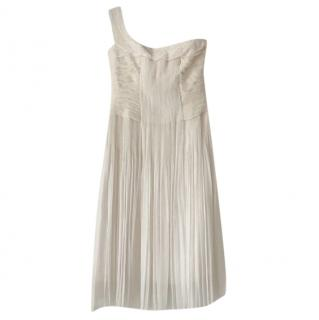 Elie Tahari Silk one shoulder cocktail dress