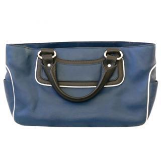 Celine Petrol Blue Leather Boogie Bag w/Dustbag