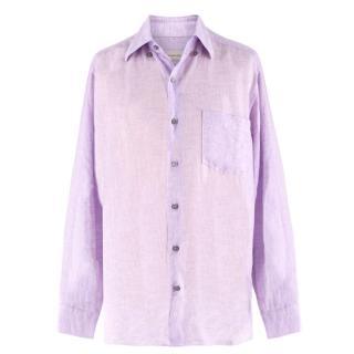 Ermenegildo Zegna Lilac Linen Shirt