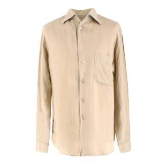 Ermenegildo Zegna Sand Linen Shirt
