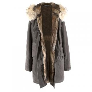 Yves Salomon Fur Lined Army Parka