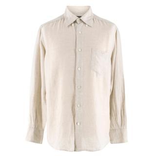 Ermenegildo Zegna Beige Linen Shirt