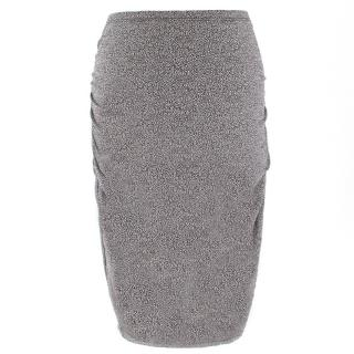 Wolford Moonstruck Tweed Ruched Skirt