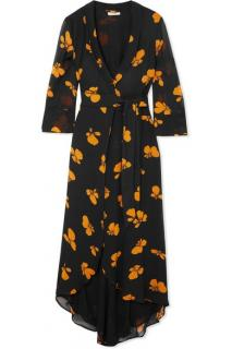GANNI Fairfax floral-print chiffon wrap dress