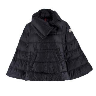 Moncler Black Puffer Cape Coat