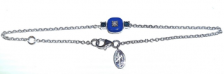 Nikos Koulis Blue & White Diamond Bracelet 18ct Gold