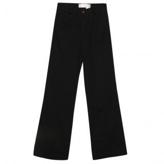 Victoria Beckham Indigo wide leg jeans