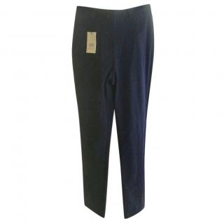 Marithe & Francois Girbaud Navy Blue Stretch Trousers