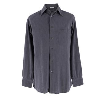 Salvatore Ferragamo Grey Denim Shirt