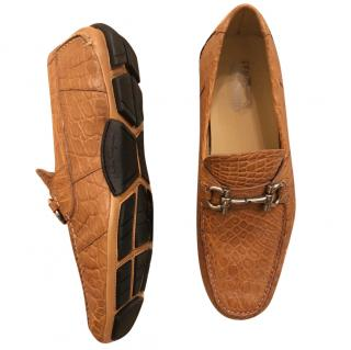 Salvatore Feragammo Men's Crocodile Loafers
