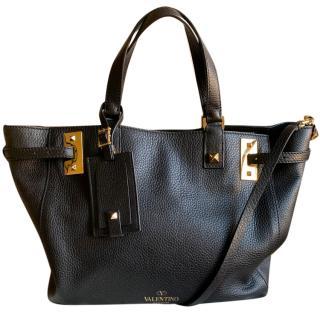 Valentino My Rockstud black leather tote