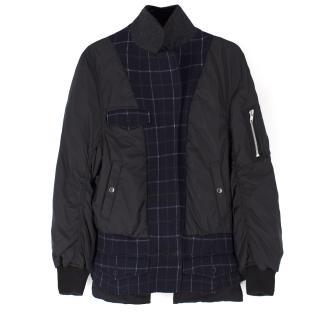 Sacai Wool Blend Bomber Jacket