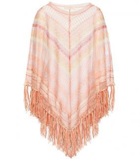 Valentino Crochet-Knit Silk Poncho