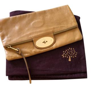 Mulberry Postmans Lock Tan Clutch Bag