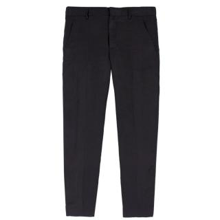 Haider Ackermann Black Silky Cropped Trousers