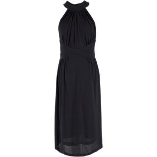Zimmermann Black High Neck Criss Cross Dress
