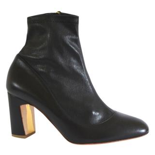 Rupert Sanderson Tamora Black Leather Sock Ankle Boots