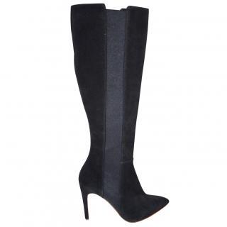Rupert Sanderson Adrienne Black Suede Knee Boots