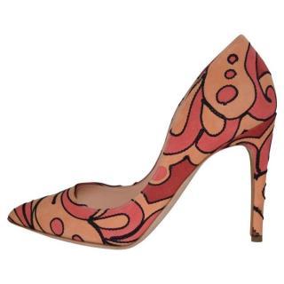 Rupert Sanderson Multicoloured suede high heel pumps