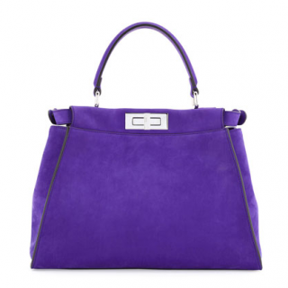 Fendi Purple Suede Medium Peekaboo Bag