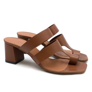 Neous Anthos Cut-out Brown leather Mules
