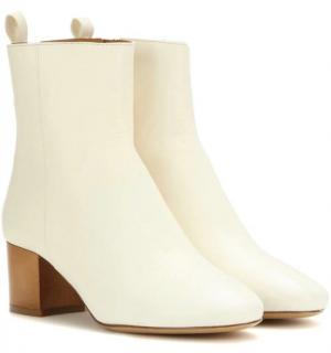 Isabel Marant white leather booties