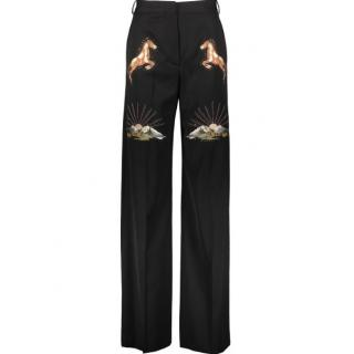 Stella McCartney Wide Leg Embroidered Trousers