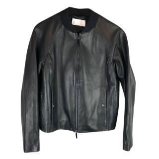 Hugo Boss Nappa Lamb Leather Bomber Jacket