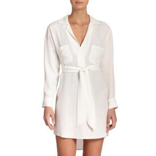 Marie France Van Damme White Silk Tunic Dress