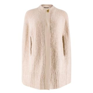 Salvatore Ferragamo Oatmeal Wool Cape
