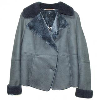 Escada Sport Shearling Leather Jacket