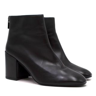 Stuart Weitzman Black Leather Heeled Ankle Boots
