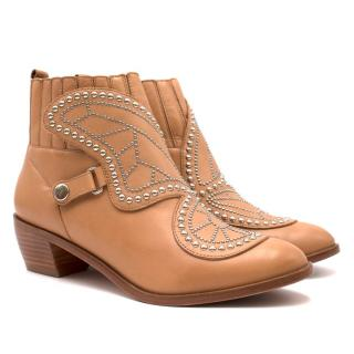 Sophia Webster 'Karina Butterfly' Stud Leather Ankle Boots