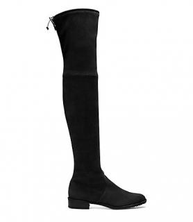 Stuart Weitzman 'The Lowland' Black Suede Over-the-knee Boot