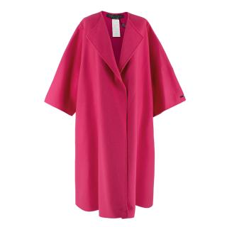 Marina Rinaldi Pink Wool and Cashmere Coat