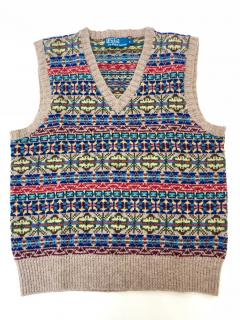 Polo Ralph Lauren Fair Isle Wool Blend Vest