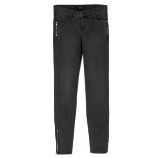 J Brand Grey High Rise Skinny Jeans