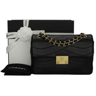 Chanel Pagoda Black Lambskin Medium Flap Bag