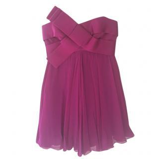 Marchesa purple strapless mini dress