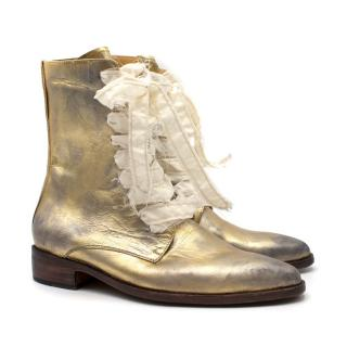 Esquivel London Distressed Leather Lace-Up Boots
