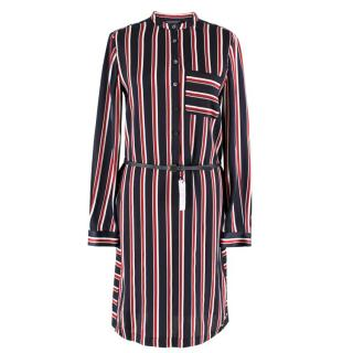 Tommy Hilfiger Silk Striped Mara Dress