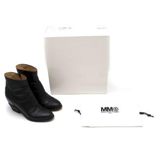 Maison Martin Margiela Black Leather Ankle Boots