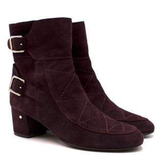 Laurence Dacade Babacar Wine Suede Ankle Boots