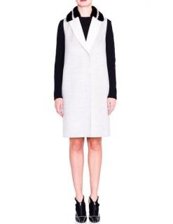 Fendi mink collar longline cashmere vest