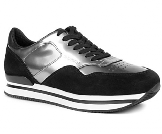 Hogan H222 suede and leather trainers