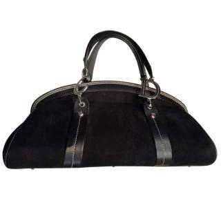 Christian Dior Suede and Leather Tote Bag