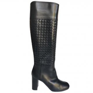 Bottega Veneta Intrecciatio Nappa Knee High Boots