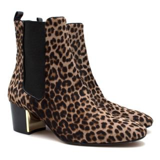 Michael Kors Collection Yvette Leopard-print Calf Hair Ankle Boots