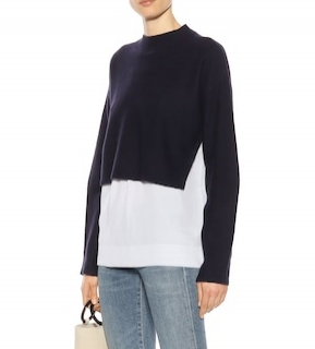 Joseph Blue Wool Cashmere Shirt Jumper