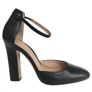 Gianvito Rossi Ankle Strap Pumps Black Leather